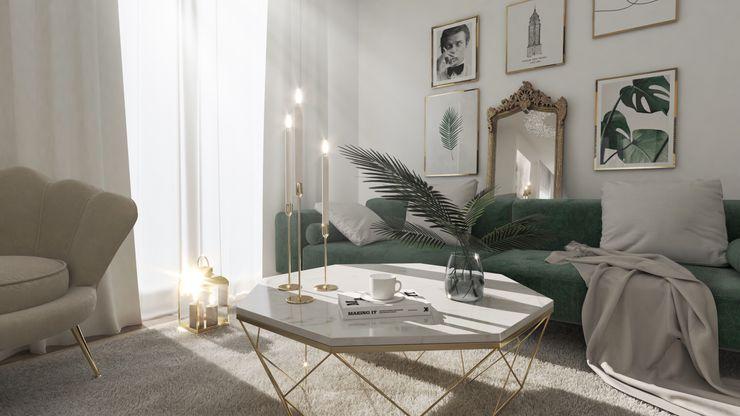 Haus in Lichtenrade ED Interior & Style Moderne Wohnzimmer Grün