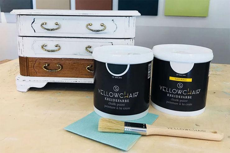 YELLOWCHAIR Kreidefarben für Wände & Möbel bei Schablono ab-design GmbH WohnzimmerAccessoires und Dekoration Holz Weiß