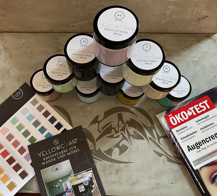 YELLOWCHAIR Kreidefarben für Wände & Möbel bei Schablono ab-design GmbH