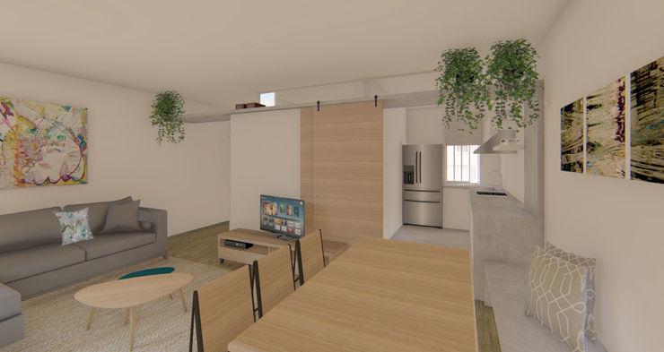 Comedor y cocina Luciane Gesualdi | arquitectura y diseño Comedores de estilo moderno