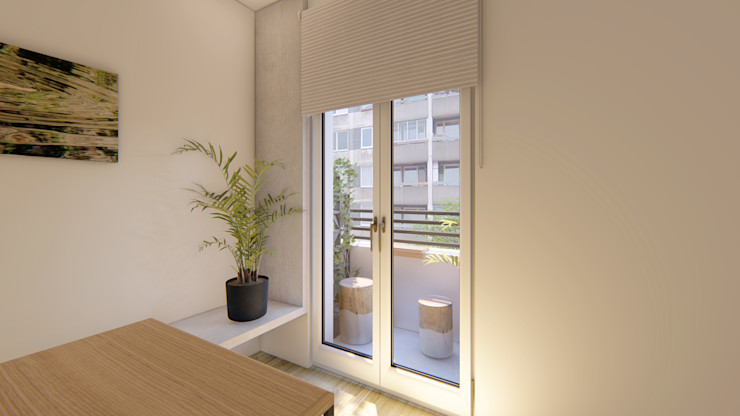 Balcón pequeño Luciane Gesualdi | arquitectura y diseño Balcón