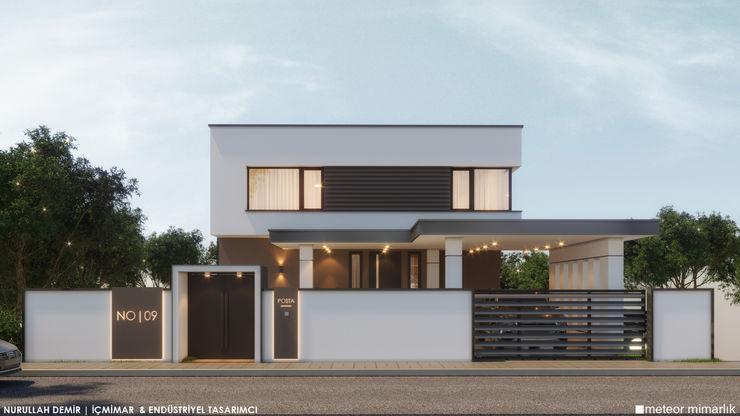 VİLLA KUVARS Meteor Mimarlık & Tasarım Villa Demirli Beton Beyaz