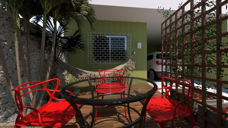 VARANDA 436 Arquitetura Pitanga Jardins de fachadas de casas
