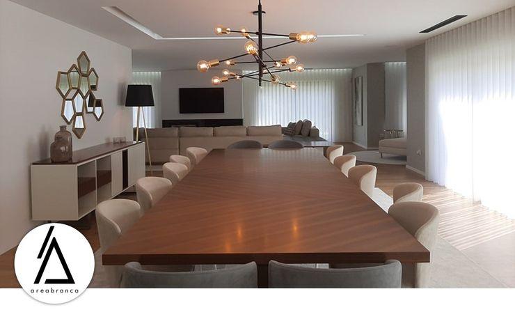 Areabranca Salas de jantar modernas