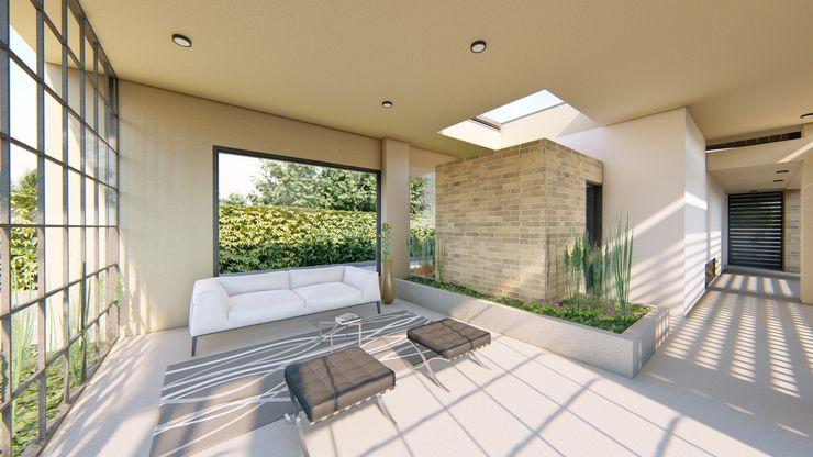 Sala de Espera CONCEPTUAL ESTUDIO + ARQUITECTURA SAS Salas modernas Concreto Beige