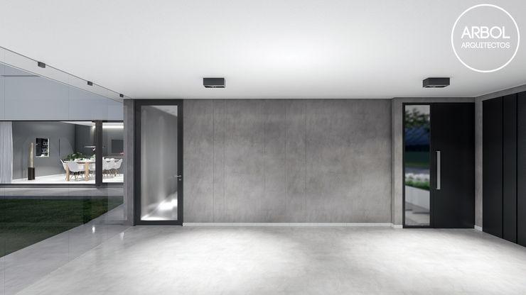 ARBOL Arquitectos Minimalist garage/shed