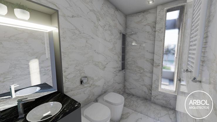 ARBOL Arquitectos Minimalist style bathroom