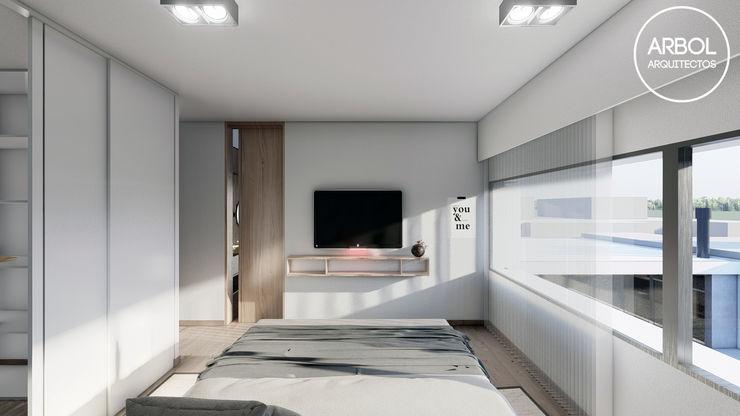 ARBOL Arquitectos Minimalist bedroom