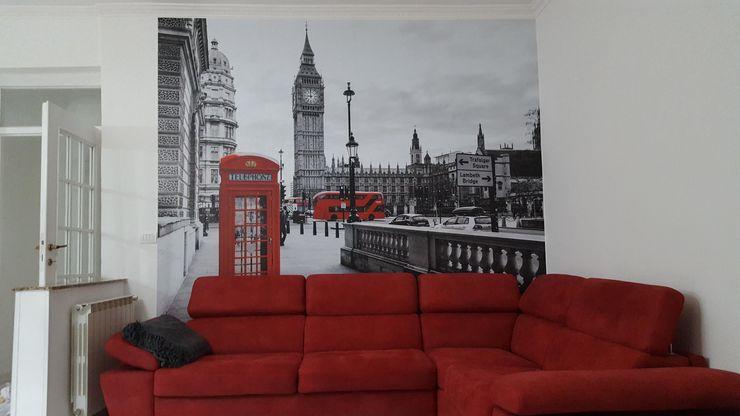 DECORAZIONE PARETE LONDRA MONDOSTICKERS Soggiorno moderno PVC