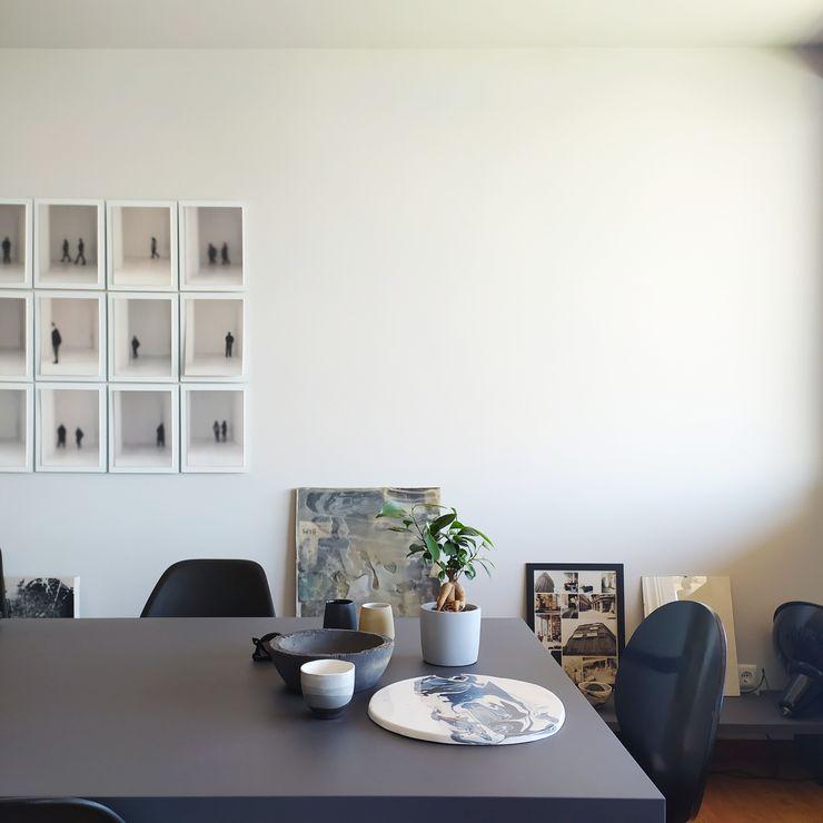 Apartamento Aníbal Cunha . Porto SCAR-ID atelier Salas de jantar ecléticas