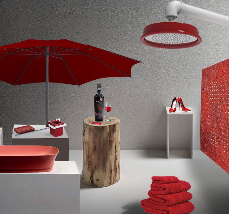 L'emozione del rosso nell'ambiente bagno Charm Bathroom Bagno moderno Ceramica Rosso