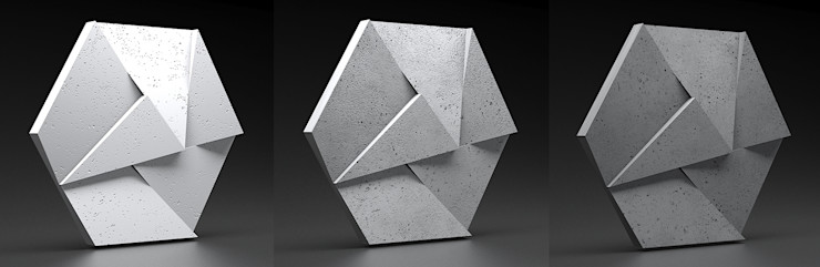 ZICARO - producent paneli 3D Study/officeStorage Pottery Grey