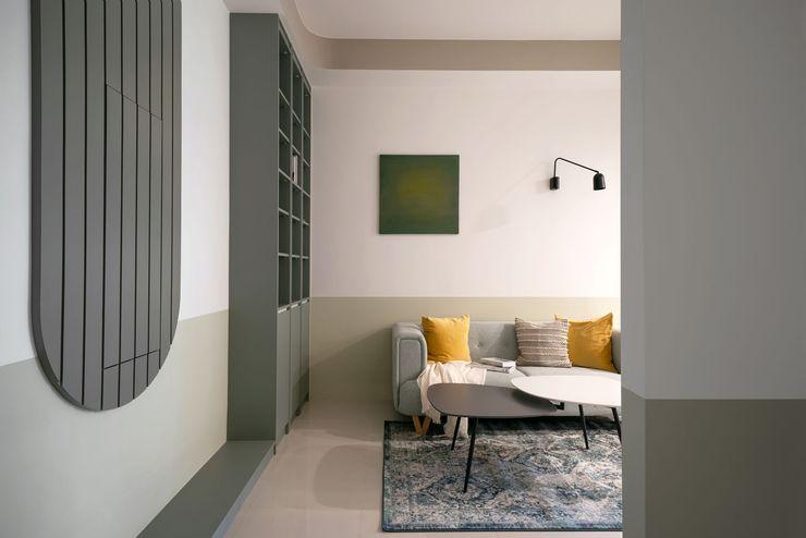 如含苞花朵般的朝鮮薊,自帶一股療癒感 可頌室內設計 客廳 MDF Green