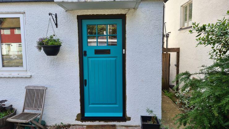 Entrance door Repair A Sash Ltd Front doors Engineered Wood Turquoise