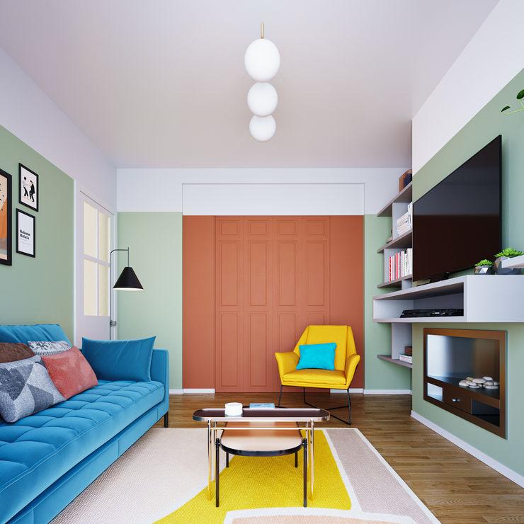 Birmingham - January, 2021 Day Interior Moderne woonkamers