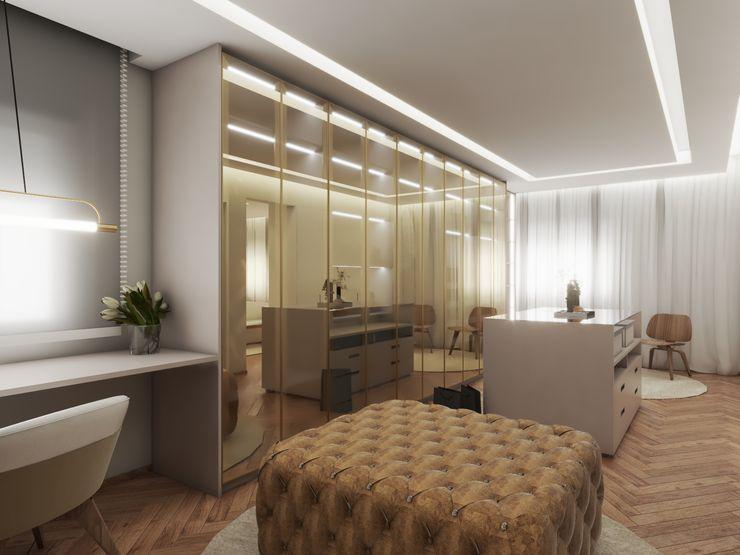 Studio M Arquitetura Modern Dressing Room