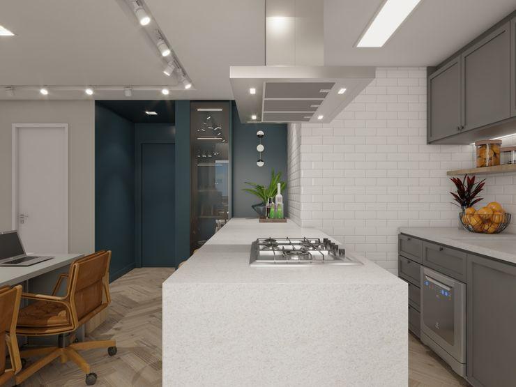 Studio M Arquitetura Small kitchens