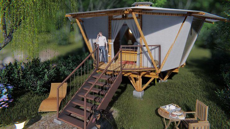 Objetivo IMZA Arquitectura Casas pequeñas Bambú Blanco