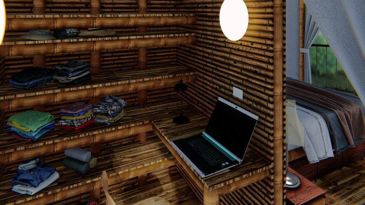 Programa arquitectónico IMZA Arquitectura Casas pequeñas Bambú Blanco