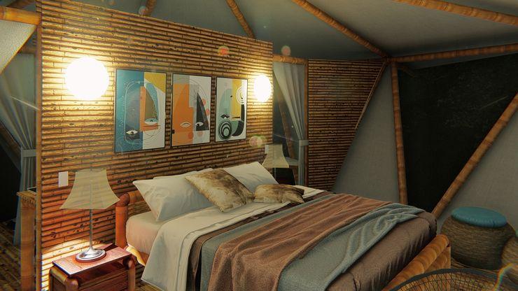 Comodidad IMZA Arquitectura Casas pequeñas Bambú Blanco