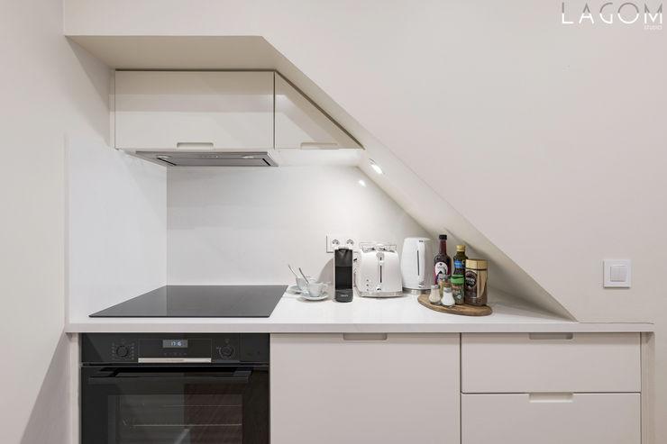 Kitchenette Lagom studio Hotéis MDF Branco