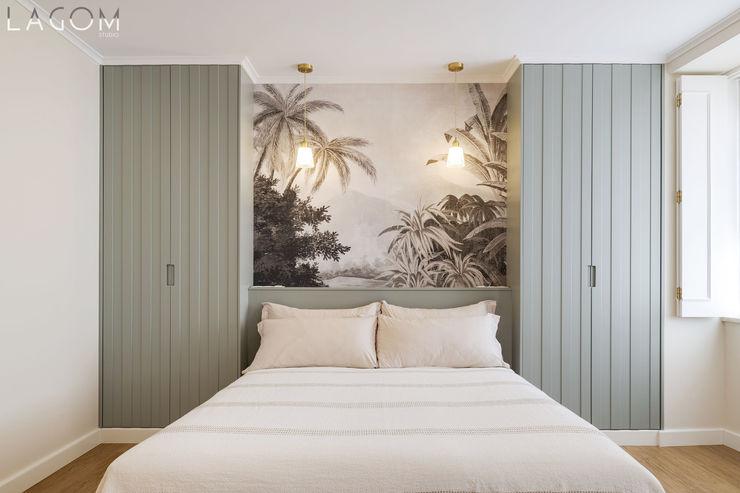 Quarto Lagom studio Hotéis escandinavos MDF Verde