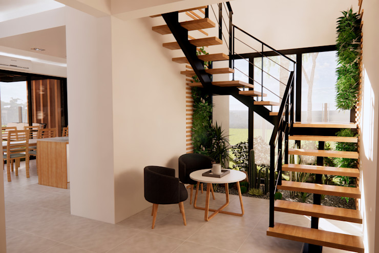 D4-Arquitectos Stairs Wood White
