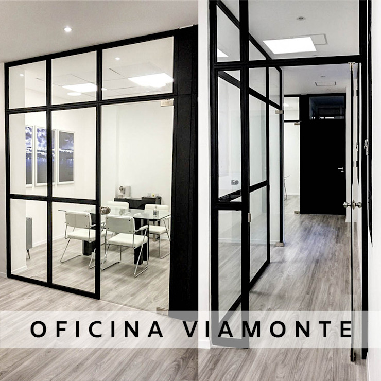 Oficina Viamonte - Fotos interiores 01 D4-Arquitectos Estudios y oficinas modernos Madera Blanco