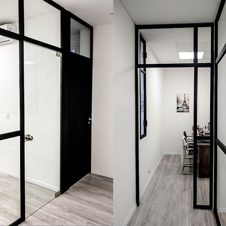 Oficina Viamonte - Fotos interiores 02 D4-Arquitectos Estudios y oficinas modernos Madera Blanco