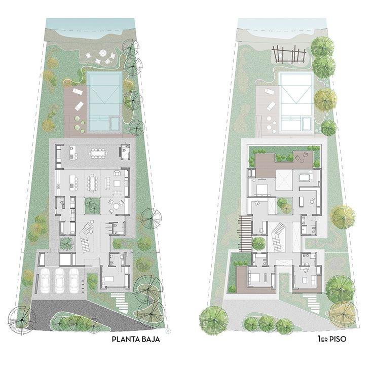 Casa 51 - Puertos del Lago, Escobar - Plantas D4-Arquitectos Casas unifamiliares Madera Blanco