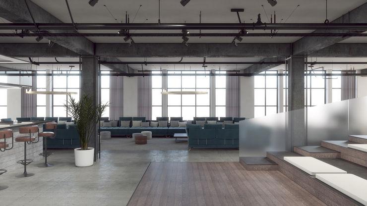CONTRACT SOSTENIBILE E DESIGN: IL PROGETTO PLATINUM TRA NASHVILLE E NEW ORLEANS PARLA ITALIANO Anidride Design Complesso d'uffici in stile industrial