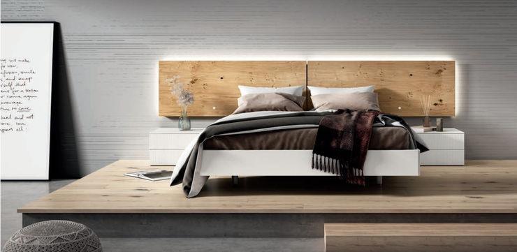 DORMITORIO CABEZAL 118 LUCA BORONIA HOME Dormitorios de estilo moderno Tablero DM Blanco