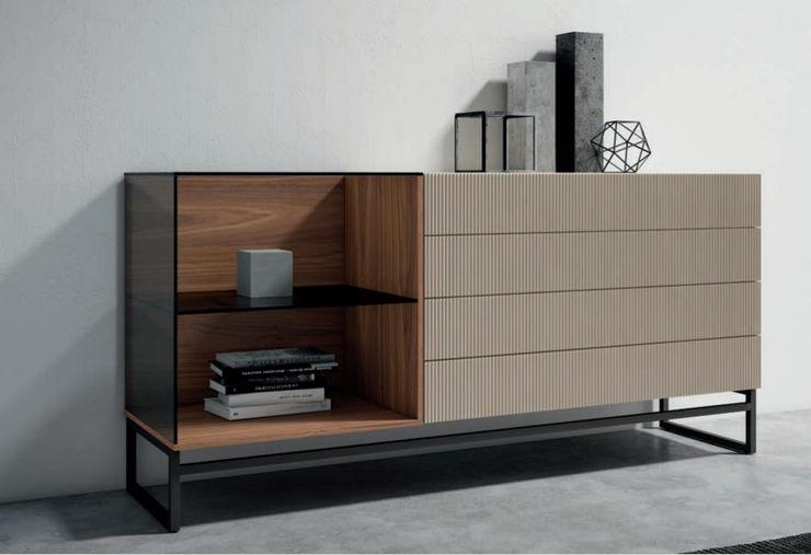 CÓMODA 4 CAJONES 123 BLIND BORONIA HOME Dormitorios de estilo moderno Tablero DM Blanco