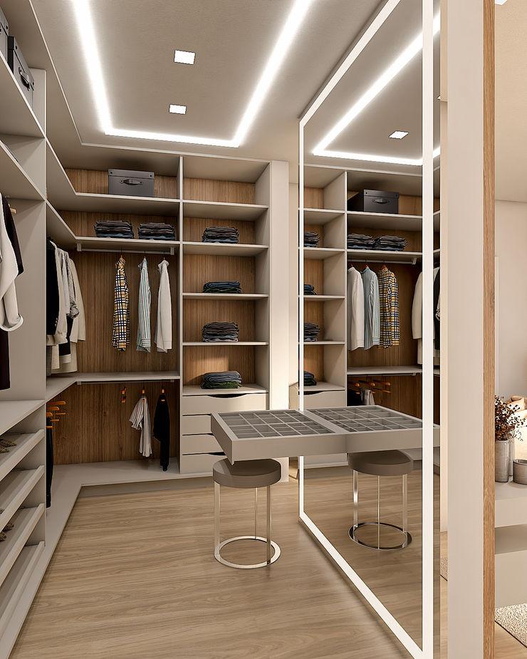 Closet Cláudia Legonde Closets Bege