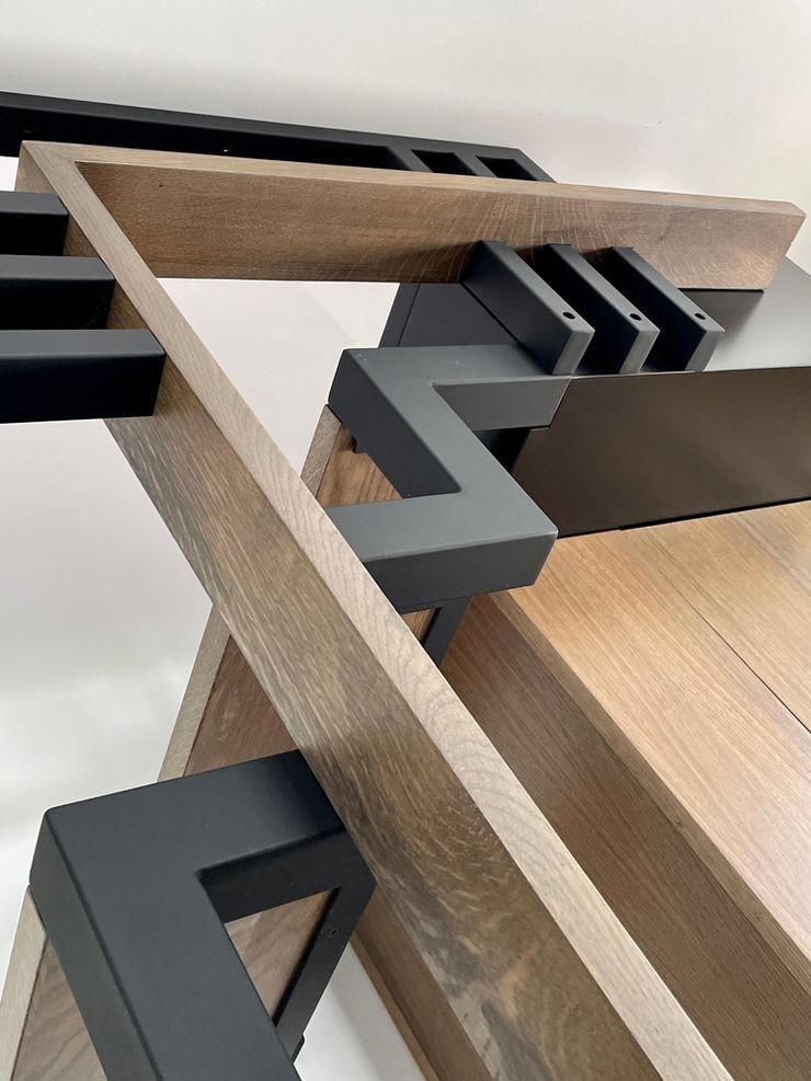 detail van de leuning MEF Architect Gang, hal & trappenhuisTrappen Hout Hout