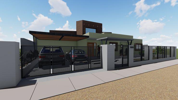 Fachada Principal Nave + Arquitectura & Modelación Paramétrica Casas unifamiliares