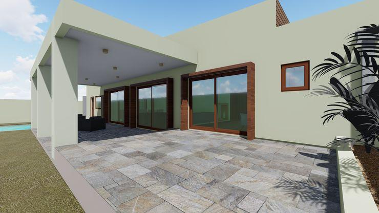 Terraza Posterior Nave + Arquitectura & Modelación Paramétrica Casas unifamiliares