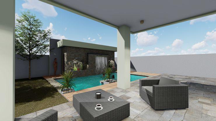 Terraza Cubierta Nave + Arquitectura & Modelación Paramétrica Balcones y terrazas mediterráneos