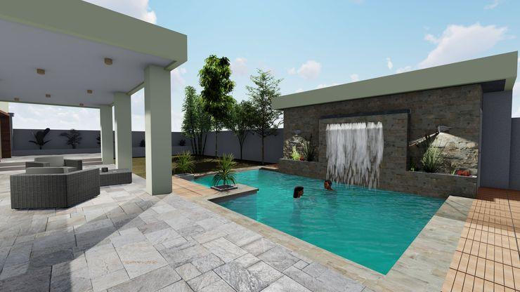 Piscina Nave + Arquitectura & Modelación Paramétrica Piscinas de jardín