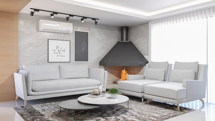 Sala de estar Cláudia Legonde Salas de estar modernas