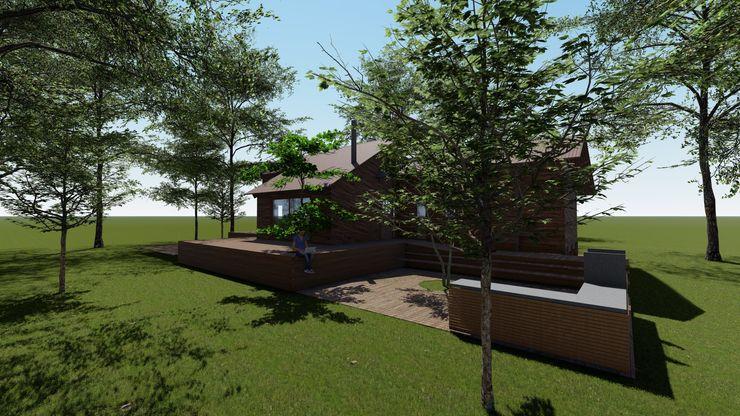 Cabaña Bosques de Lircay Sector Quincho Nave + Arquitectura & Modelación Paramétrica Cabañas Acabado en madera