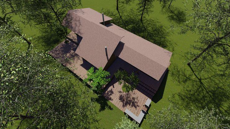 Cabaña Bosques de Lircay Cubiertas Nave + Arquitectura & Modelación Paramétrica Cabañas Acabado en madera