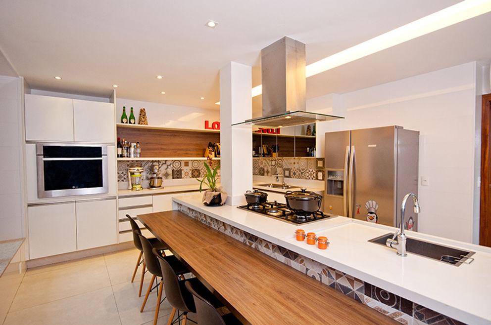 Cozinha Gourmet Adoro Arquitetura Cozinhas modernas Madeira Bege