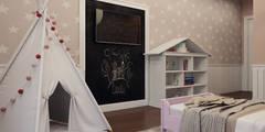 Дизайн-проект 130 кв.м. в Сургуте: Детские комнаты в translation missing: ru.style.Детские-комнаты.modern. Автор - Alyona Musina
