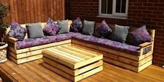 Garden corner unit : translation missing: en.style.garden-.eclectic Garden  by Pallet furniture uk