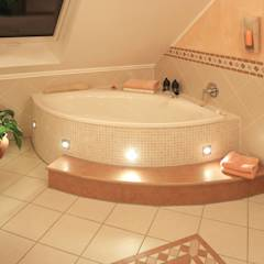 mediterrane badezimmer ideen inspiration homify. Black Bedroom Furniture Sets. Home Design Ideas