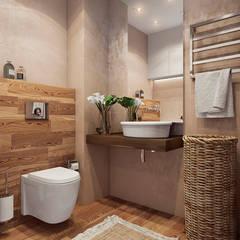 studio apartment: Ванные комнаты в translation missing: ru.style.Ванные-комнаты.minimalizm. Автор - Angelina Alekseeva