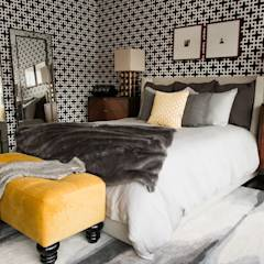 Hells Kitchen Penthouse:  Bedroom by Bhavin Taylor Design