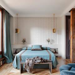 Atico en Villanueva : Dormitorios de estilo moderno de Ines Benavides