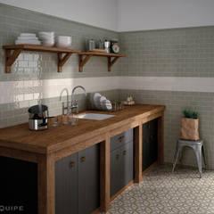 Masia Olive y decorado Jewel Ivory: Cocinas de estilo rústico de Equipe Ceramicas